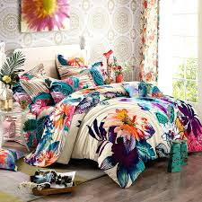 luxury bedding set cotton bedclothes bed linen sets queen king size quilt boho comforter set queen bohemian