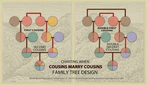 Family Tree Cousins Chart Visualizing Genealogical Relationships Double Cousins