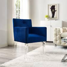 velvet accent chair. Chair Navy Blue Velvet Acrylic Accent High Quality Legs