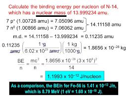 16 calculate the binding energy