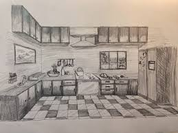 kitchen 1 point perspective. pin drawn kitchen art rendering 12 1 point perspective e