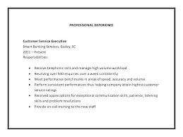 Resume Job Description Examples Customer Service Job Description Template
