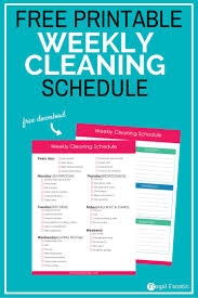 Weekly Household Cleaning Schedule Free Weekly Cleaning Schedule Frugal Fanatic