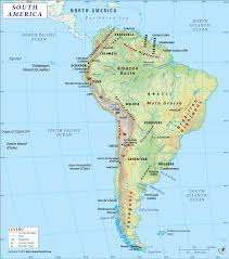 South America Map Detailed Map Of South America