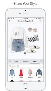 create collage look from your closet