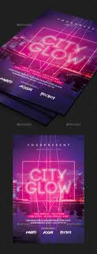 glow flyer city glow flyer by comodensis graphicriver