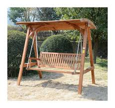 Beautiful Garden Furniture Swing Seat Outsunny 3 Seater Larch Wooden Garden  Swing Chair Seat Hammock