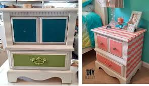 shabby chic nightstand pink striped makeover shabby chic table lamp base