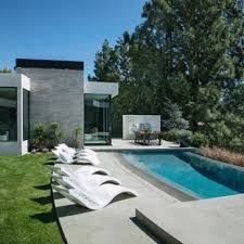 infinity pool design backyard. Inspiration For A Modern Backyard Concrete And Custom-shaped Infinity Pool  Remodel In Los Angeles Design