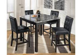 black dining room sets. Maysville Counter Height Dining Room Table And Bar Stools (Set Of 5), Black Sets