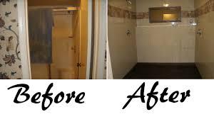 repair nature pebble stone flooring in shower before n after jpg