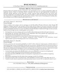 Hotel General Manager Resume Template