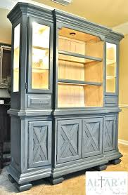 Before And After China Hutch Makeover Custom Painted Tuscan Cabi In Style -  Cabinet Pictures Collection