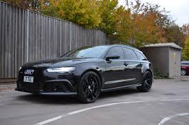 Mean-Looking Audi RS6 Avant on HRE S104 Wheels