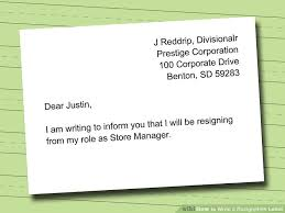 How To Type Resignation Letter 10 Naples My Love