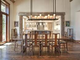 Rustic Chic Dining Room Lighting Ideas