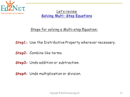 29 solving multi step equations