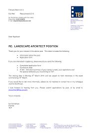 Brilliant Ideas Architecture Cover Letter Review Architect Job