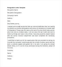 good letter of resignation letter of resignation free resignation letter free resignation