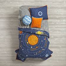 kids blue solar system bedding the land of nod outer space canada bedding solarsystem