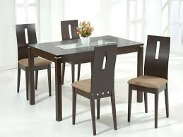 Glass Dining Tables For Small Spaces Wood With Glass Dining Table