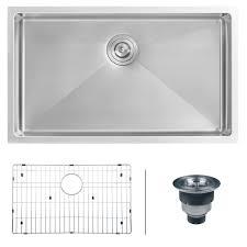 ruvati rvh7400 undermount 16 gauge 32 kitchen sink single bowl stainless steel com
