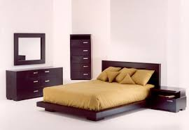 brown bedroom set featured queen size wood low profile bed frame