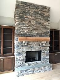 ... Stacked Stone Fireplace Surround Kits Outdoor Cost Dry Stack ...