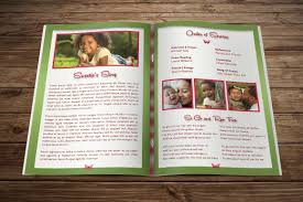 How To Make A Funeral Program Child Funeral Program Template By Godserv Designs