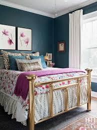 Vintage Teal And Pink Bedroom