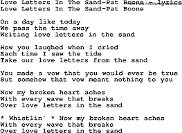 love letters in the sand pat boone ly