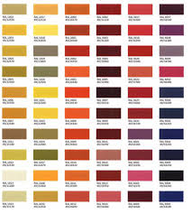 Tiger Drylac Ral Powder Coat Color Chart Restaurant