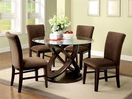 amaing round glass dining table set