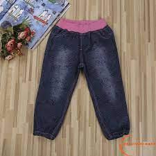 Quần Jeans Lưng Thun Co Giãn Thời Trang Cho Bé Gái 1-6 Tuổi tại Nước ngoài