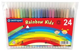 <b>Centropen</b> Набор <b>фломастеров Rainbow Kids</b> (7550), 24 шт ...