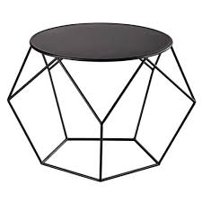 metal round coffee table in black