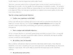 Creating A Good Resume Creating An Objective For A Resume Write Objective In Resume