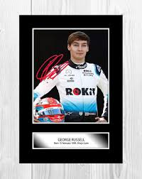 George russell finished ninth on his debut with mercedes but could have won the race. George Russell Signed Photo Print Poster Formula One Mercedes Memorabilia 7 29 Picclick Uk