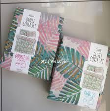 primark cuban zen palm leaf print reversible duvet cover bedding sets at sears tokida for