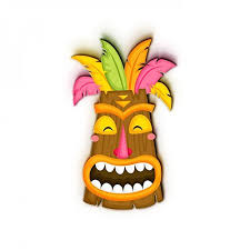 mask collection decorative tiki masks wall door art d cor hanging uv cured 1 piece traditional cultural ritual ceremonial hawaiian tiki on tiki mask wall art with nish mask collection decorative tiki masks wall door art