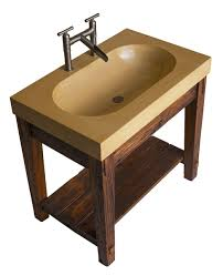 Made To Order Bathroom Cabinets Hand Made Bathroom Vanity With Wormy Chestnut Base And Integral