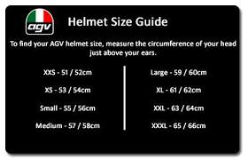 Agv Corsa R Size Chart Agv Corsa R V46 Matt Black