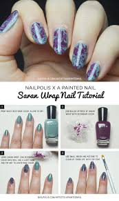 Saran Wrap Nail Art Tutorial | Nailpolis Magazine