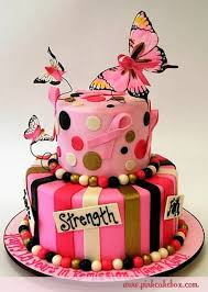 Butterfly Cake Just Show Up Breast Cancer Cake Ribbon Cake