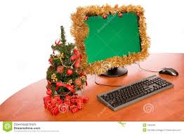 christmas decoration for office. Office Desk With Christmas Decoration For
