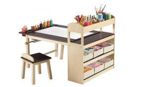 kids art table with storage ideas on