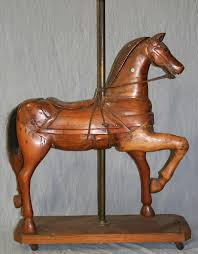 american primitive carved carousel horse