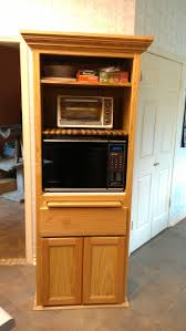 Microwave Furniture Cabinet Simple Kitchen Microwave Cabinet Home Design Ideas