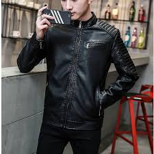 2019 men genuine leather jacket sheepskin 2018 new spring and autumn handsome slim zipper male motorcycle leather jacket teenager boy from beenlo