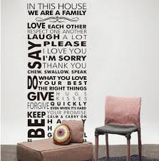 house rule wall decals rules of our family removable pvc vinyl lettering saying quotes wall sticker